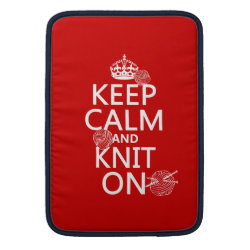 Macbook Air Sleeve with Keep Calm and Knit On design