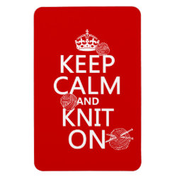 4'x6' Photo Magnet with Keep Calm and Knit On design