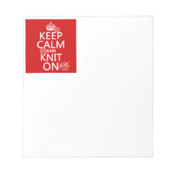 5.5' x 6' Notepad - 40 pages with Keep Calm and Knit On design