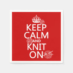 Paper Napkins with Keep Calm and Knit On design