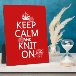 Photo Plaque 8' x 10' with Easel with Keep Calm and Knit On design