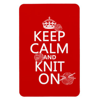 Keep Calm and Knit On - all colors Rectangular Photo Magnet