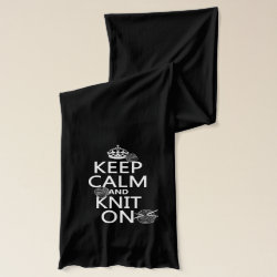 Jersey Scarf with Keep Calm and Knit On design
