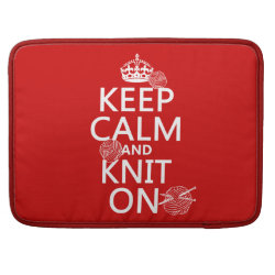 Macbook Pro 15' Flap Sleeve with Keep Calm and Knit On design