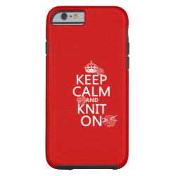 Case-Mate Barely There iPhone 6 Case with Keep Calm and Knit On design