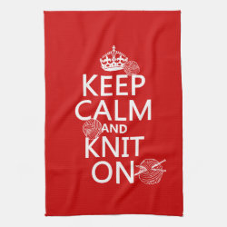 Kitchen Towel 16' x 24' with Keep Calm and Knit On design