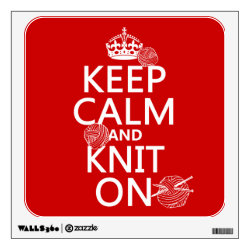 Walls 360 Custom Wall Decal with Keep Calm and Knit On design