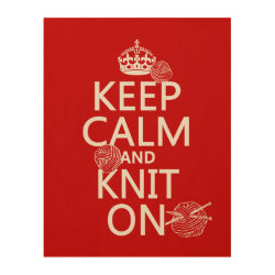 11'x14' Wood Canvas with Keep Calm and Knit On design