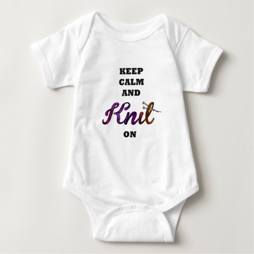 Keep Calm and Knit On Body Para Bebé