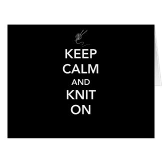 Keep Calm and Knit On Cards