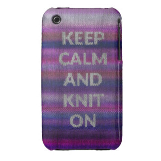 Keep Calm And Knit On Case-Mate iPhone 3 Case