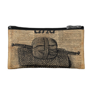 Keep Calm And Knit On Cosmetic Bag