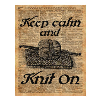 Keep Calm And Knit On Flyer
