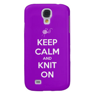 Keep Calm and Knit On Fuchsia Samsung Galaxy S4 Case