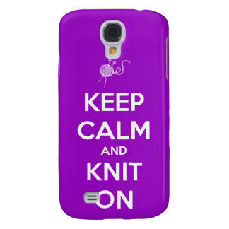 Keep Calm and Knit On Fuchsia Samsung S4 Case