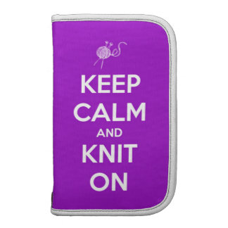 Keep Calm and Knit On Fuschia Planners