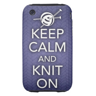 Keep Calm and Knit On iPhone 3 Case