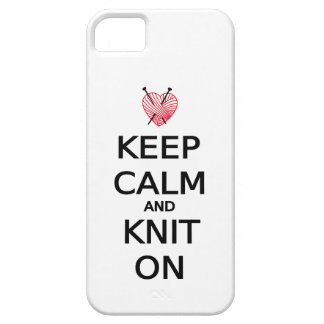 Keep calm and knit on iPhone SE/5/5s case
