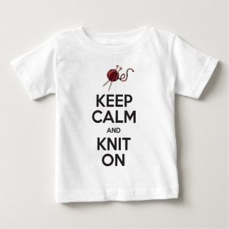 Keep Calm and Knit On (light) Baby T-Shirt