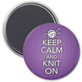 Keep Calm and Knit On Magnet