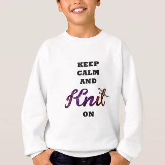 Keep Calm and Knit On Sudadera