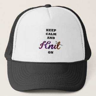 Keep Calm and Knit On Trucker Hat