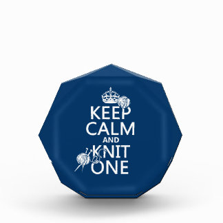 Keep Calm and Knit One - all colours Award
