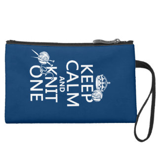 Keep Calm and Knit One - all colours Wristlet