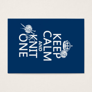 Keep Calm and Knit One - all colours Business Card