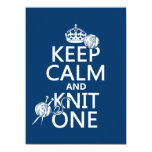 Keep Calm and Knit One - all colours 5.5x7.5 Paper Invitation Card