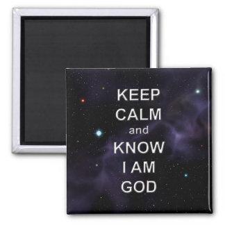 Keep Calm and Know I Am God Magnet