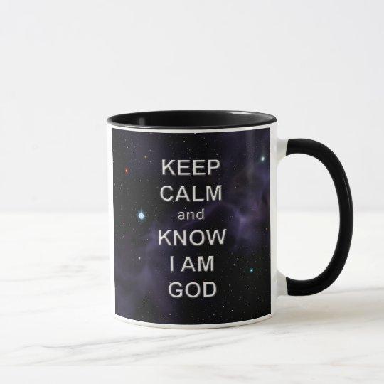 Keep Calm and Know I Am God Mug