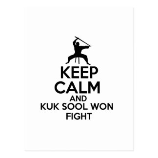 Keep Calm And Kuk Sool Won Fight Postcard