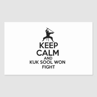 Keep Calm And Kuk Sool Won Fight Rectangular Sticker