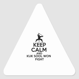 Keep Calm And Kuk Sool Won Fight Triangle Sticker