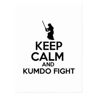 Keep Calm And Kumdo Fight Postcard
