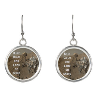 Keep Calm and Land on Mars Rover Earrings