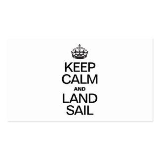 KEEP CALM AND LAND SAIL BUSINESS CARD