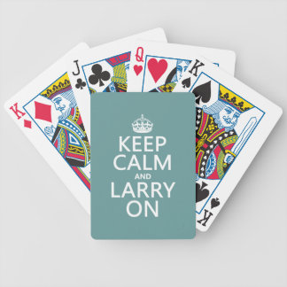 Keep Calm and Larry On (customisable color) Bicycle Playing Cards