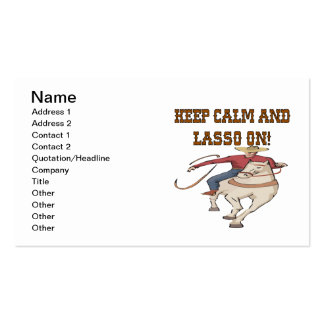 Keep Calm And Lasso On 2 Business Card