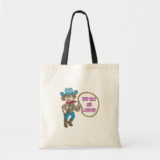 Keep Calm And Lasso On Canvas Bag