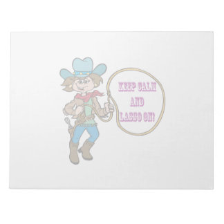 Keep Calm And Lasso On Note Pads