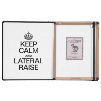 KEEP CALM AND LATERAL RAISE iPad CASE