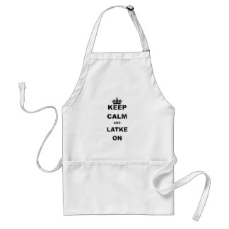KEEP CALM AND LATKE ON.png Adult Apron