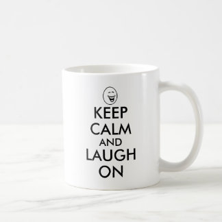 Keep Calm and Laugh On Mug Laughing Cartoon Face