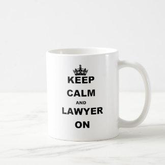 KEEP CALM AND LAWYER ON CLASSIC WHITE COFFEE MUG