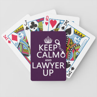 Keep Calm and Lawyer Up (any color) Bicycle Playing Cards