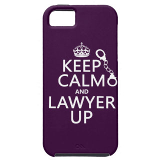 Keep Calm and Lawyer Up (any color) iPhone 5 Covers