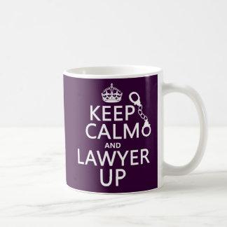 Keep Calm and Lawyer Up (any color) Coffee Mug