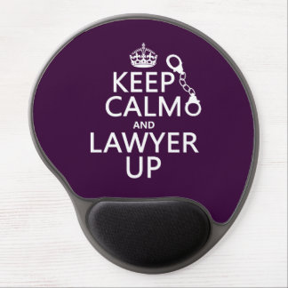 Keep Calm and Lawyer Up (any color) Gel Mouse Pad